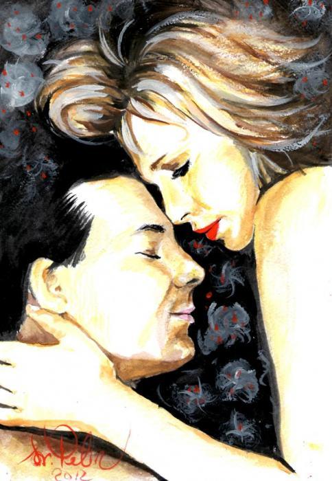 Kim Basinger, Mickey Rourke par svetliaciok